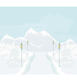 Beautiful winter landscape with snow covered trees vector image vector image