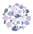 Blue fishes vector | Price: 1 Credit (USD $1)
