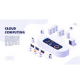 cloud computing online backup secure computer vector image vector image