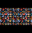 colorful dark geometric mosaic abstract background vector image vector image