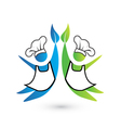 Cookers teamwork icon logo vector image