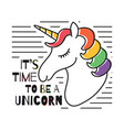 cute magical unicorn for t-shirt print childish vector image