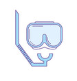 diving mask to be underwater adventure vector image vector image