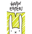 easter bunny speech bubble vector image vector image