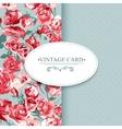 Elegance Vintage Floral Card with Roses vector image