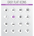 flat industry icons set vector image vector image