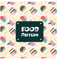 food pattern ice cream cup background image vector image vector image