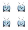 Funny cartoon retro TV character mimics vector image vector image