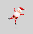 funny happy santa claus character on background vector image vector image