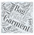 garment bags Word Cloud Concept vector image vector image