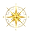Golden compass rose vector image