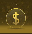 golden dollar label vector image