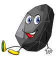 Gray rock with happy face vector image vector image
