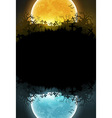 Halloween background with moon vector image vector image