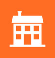 house icon in flat style on orange background vector image vector image
