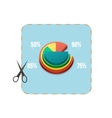 icon coupon cutout with business pie chart vector image vector image