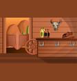 interior of texas saloon concept banner cartoon vector image
