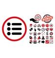 Items Flat Icon with Bonus vector image vector image