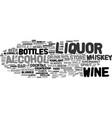 Liquor word cloud concept