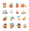 M-commerce Icons Set vector image