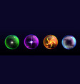 magic spheres crystal balls different colors vector image vector image