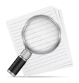 Magnifying glass with abstract paper documents vector | Price: 1 Credit (USD $1)