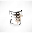 nightstand grunge icon vector image vector image