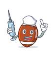 nurse american football character cartoon vector image vector image