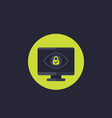 parental control icon with eye and lock vector image vector image