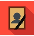 Photo of deceased flat icon vector image vector image