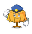 police table cloth character cartoon vector image vector image
