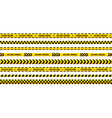 police tape set yellow warning strip in 8 vector image vector image