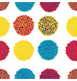 set of colorful pom poms decorative vector image vector image