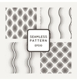 set of seamless geometric patterns of mesh vector image vector image