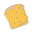 silhouette color bread with cheese vector image vector image