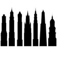 silhouettes of towers vector image vector image