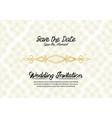 simple vintage wedding invitation vector image