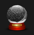 snow ball merry christmas vector image vector image