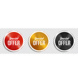 special offer circle banners vector image