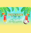 summertime best party time vector image