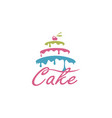sweet cake design vector image