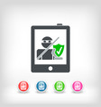 tablet safety vector image vector image