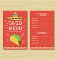 Taco menu template