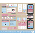 UI Flat Design Elements for Web and Infographics vector image vector image