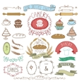 Vintage Bakery Labels element setHand sketched vector image vector image