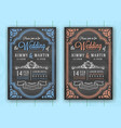 vintage chalkboard wedding invitation card vector image vector image