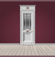 white entrance door vector image