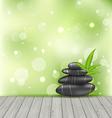 Zen stones on the wood texture meditative oriental vector image vector image