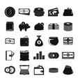 money icons set simple style vector image