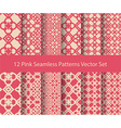 12 seamless pattern set vector image